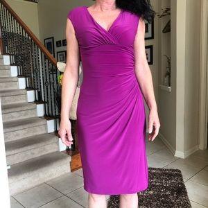 Purple Ruched Ralph Lauren Dress